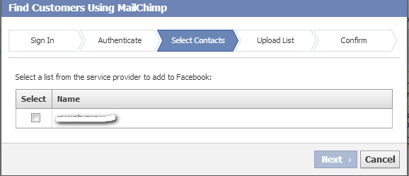 custom audience - ads manager - MailChimp3